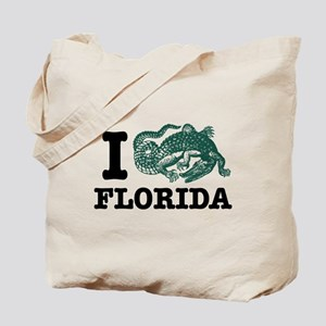 I Love Florida (Alligator) Tote Bag