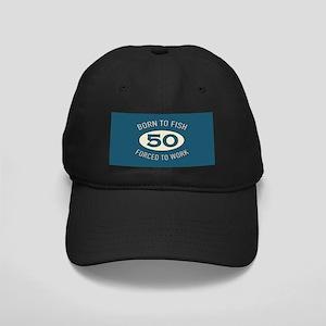 50th Birthday Fishing Black Cap