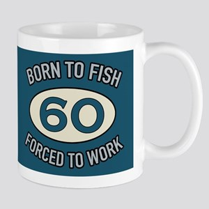 60th Birthday Fishing Mugs