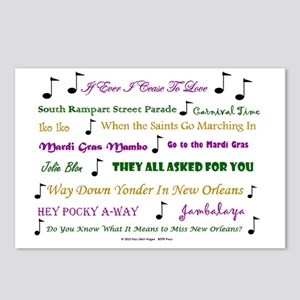 Mardi Gras Music Postcards (Package of 8)