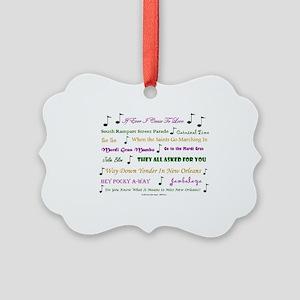 Mardi Gras Music Picture Ornament