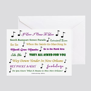 Mardi Gras Music Greeting Card