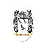 Jeannot Oval Car Magnet