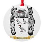 Jeannequin Round Ornament