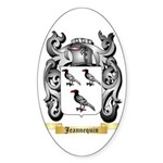 Jeannequin Sticker (Oval)
