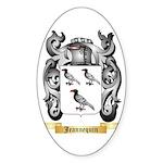Jeannequin Sticker (Oval 50 pk)