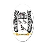 Jeannequin 20x12 Oval Wall Decal