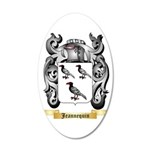 Jeannequin 35x21 Oval Wall Decal