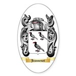Jeannenet Sticker (Oval 50 pk)