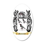 Jeannenet 20x12 Oval Wall Decal