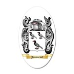 Jeannenet 35x21 Oval Wall Decal