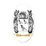 Jeannaud Oval Car Magnet