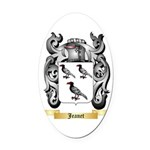 Jeanet Oval Car Magnet
