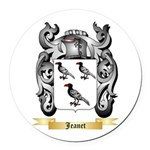 Jeanet Round Car Magnet