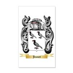 Jeanet 35x21 Wall Decal