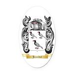 Jeandot Oval Car Magnet