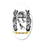 Jeandot 20x12 Oval Wall Decal
