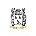 Jeandet Rectangle Car Magnet