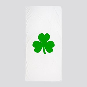 Three Leaf Clover Beach Towel