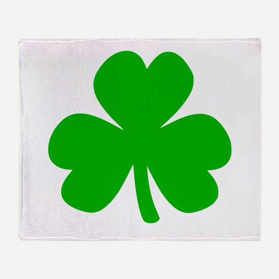 Three Leaf Clover Throw Blanket