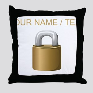 Custom Padlock Throw Pillow