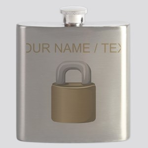 Custom Padlock Flask