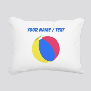 Custom Beach Ball Rectangular Canvas Pillow