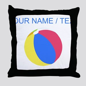 Custom Beach Ball Throw Pillow
