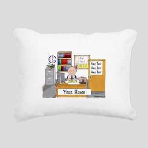 Office, Male Rectangular Canvas Pillow