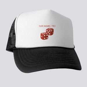 Custom Red Dice Trucker Hat