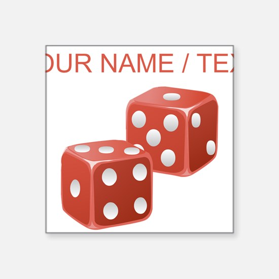 Custom Red Dice Sticker
