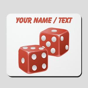 Custom Red Dice Mousepad