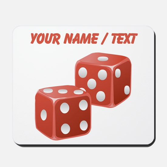 Custom Red Dice Mousepad