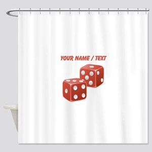 Custom Red Dice Shower Curtain