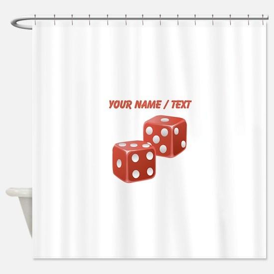 Custom Red Dice Shower Curtain