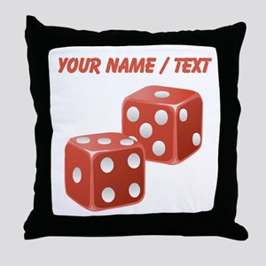 Custom Red Dice Throw Pillow