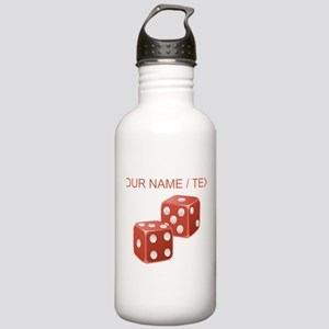 Custom Red Dice Water Bottle