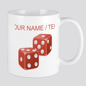 Custom Red Dice Mugs