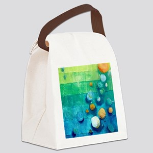Blue Green Shells Colorful Abstract Art Canvas Lun