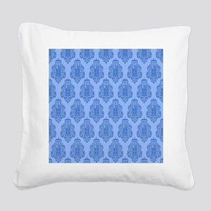 Blue Tardis Square Canvas Pillow
