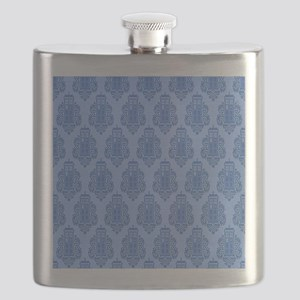 Blue Tardis Flask
