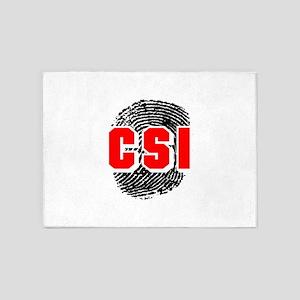 CSI FINGERPRINT 5'x7'Area Rug