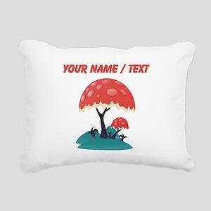 Custom Mushroom Tree Rectangular Canvas Pillow