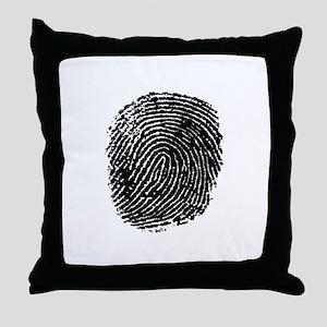 FINGERPRINT Throw Pillow