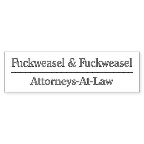 Lawyer Humor Bumper Sticker