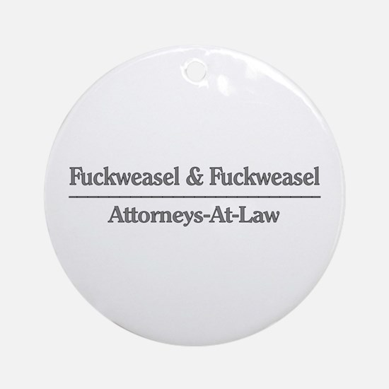 Lawyer Humor Ornament (Round)