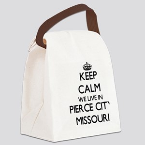 Keep calm we live in Pierce City Canvas Lunch Bag