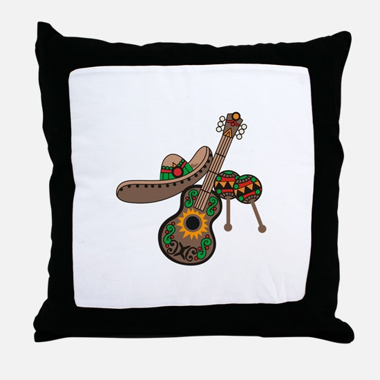 LATIN MUSIC Throw Pillow