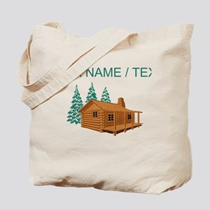 Custom Cabin In The Woods Tote Bag