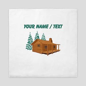 Custom Cabin In The Woods Queen Duvet